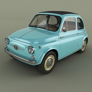 3d model of 1963 fiat nuova 500