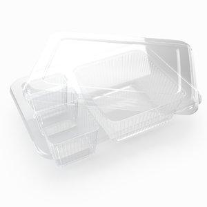 transparent plastic food container 3d model