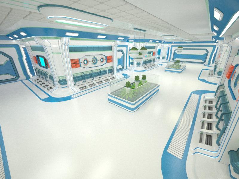 interior complex 3d 3ds