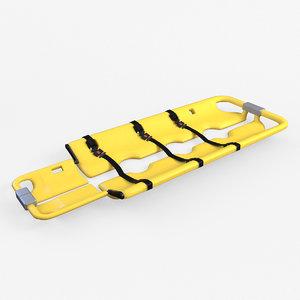 3d scoopstretcher ems model