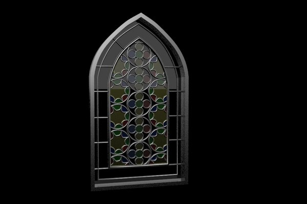 stained window 3d dwg