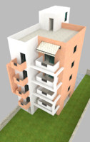 Low poly Appartments building
