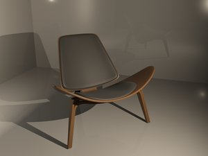 shell chair 3d model