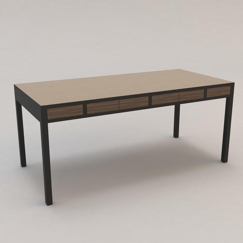 longitude desk christian liaigre 3d model