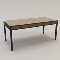 longitude desk christian liaigre 3d model