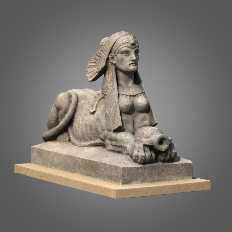 3d max sphinx sculpture