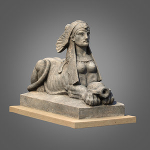 3d max sphinx sculpture