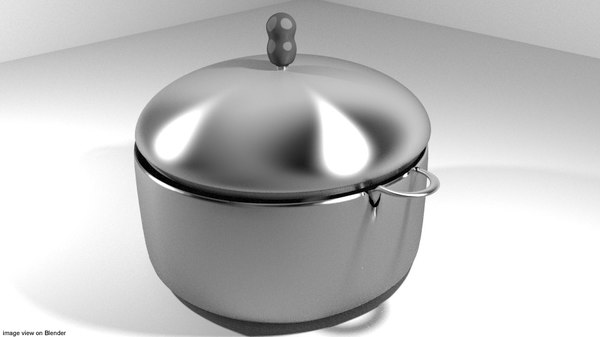 3d kitchenware steamer model