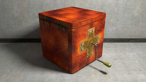 3d music box toy model