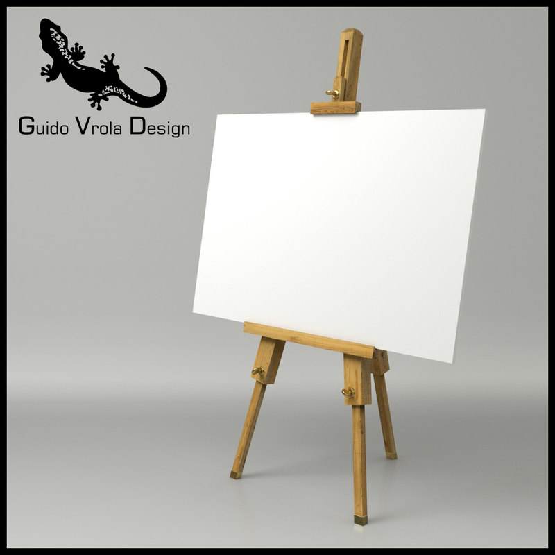 3d artist easel canvas