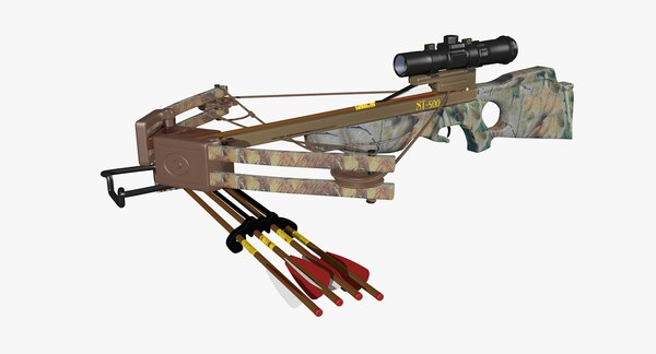 3ds hunting crossbow bow arrows