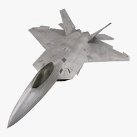 f 22 raptor rigged 3d ma