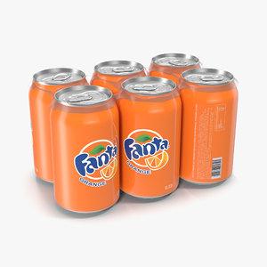 3d model pack cans fanta