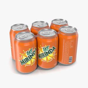 3d pack cans mirinda
