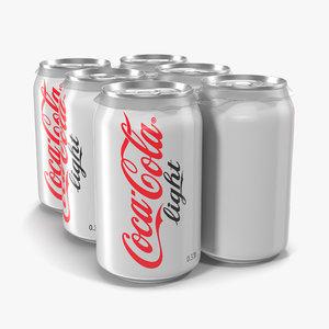 c4d pack cans coca cola