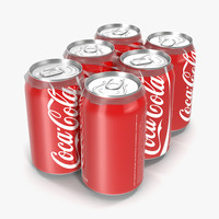 Six Pack of Cans Coca-Cola