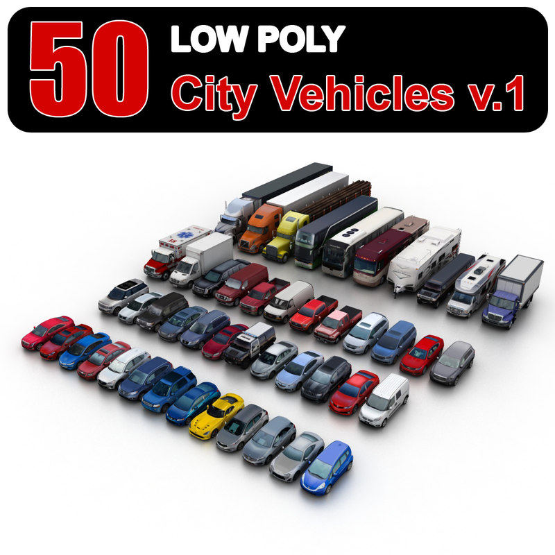 3d model city vehicles 1