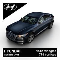 3d 2015 hyundai genesis sedan