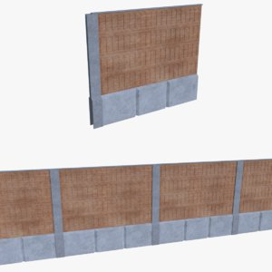 subdivision noise barrier 3d model