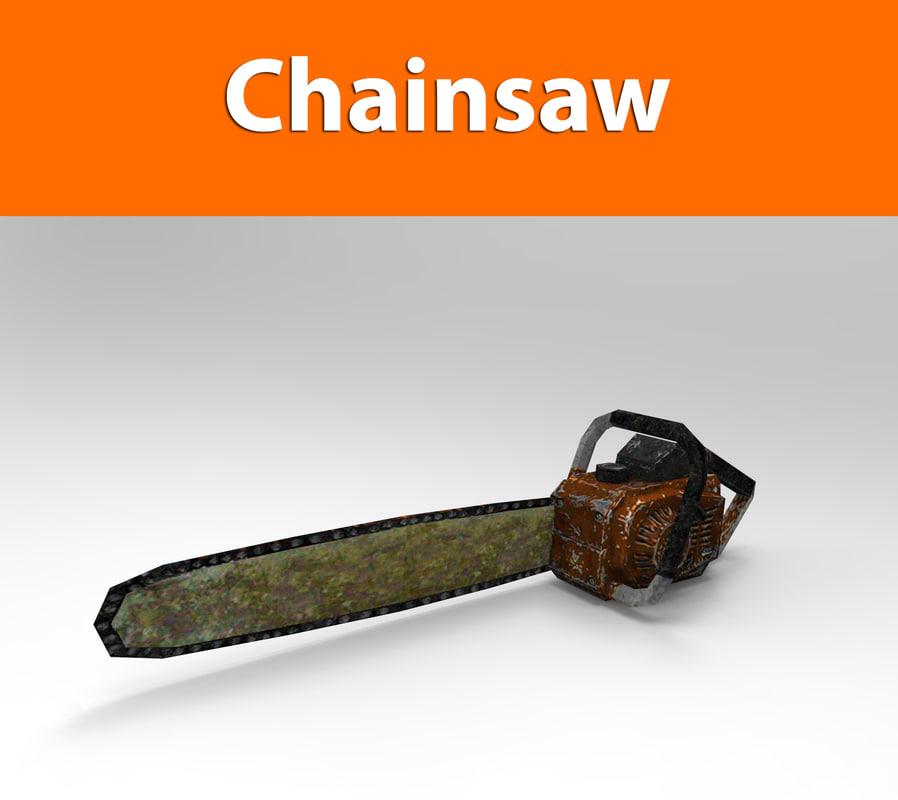 3d chainsaw weapon haigh model