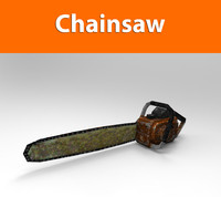 3d chainsaw weapon haigh model