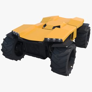 3d model robotic tractor greenbot