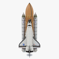 Space Shuttle Discovery With Boosters