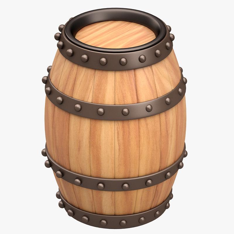 barrel bar 3d model
