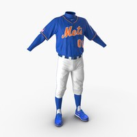 baseball player outfit mets 3d model