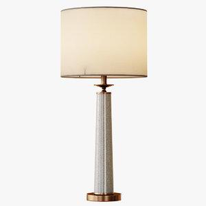 3d rhyme table lamp gray model