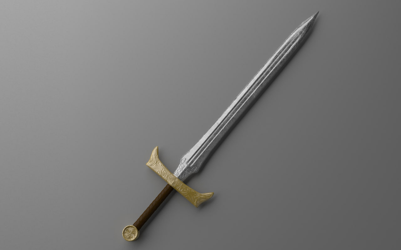 warrior sword 3d model