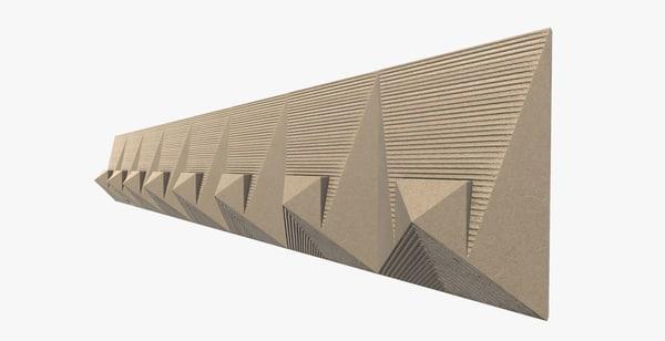 unity pyramid tile 3d model