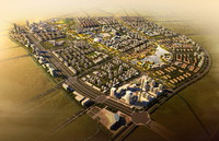 3d cityscape architectures road