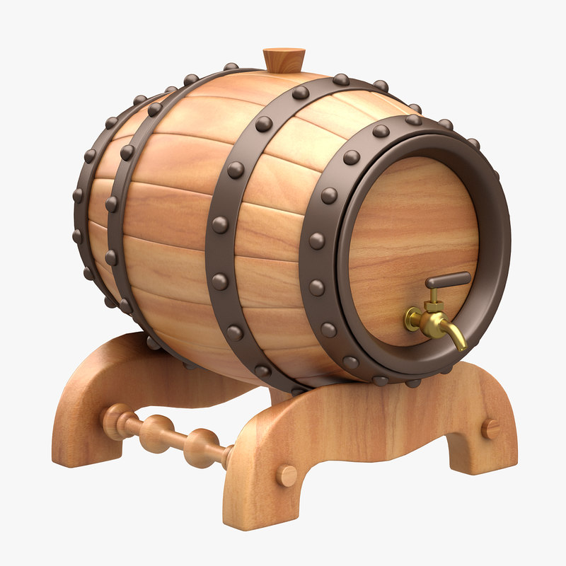 beer barrel bar 3d max