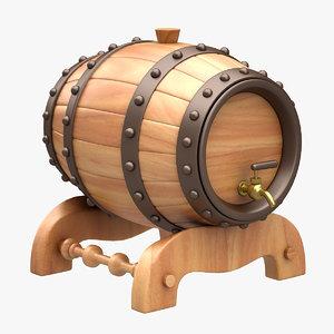 beer barrel bar 3d max