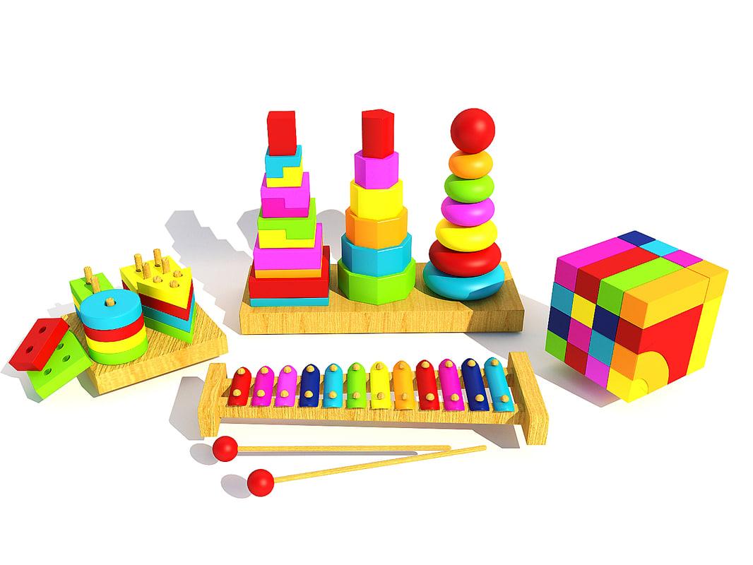 3d model kids toys