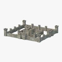 castle generic 3d max