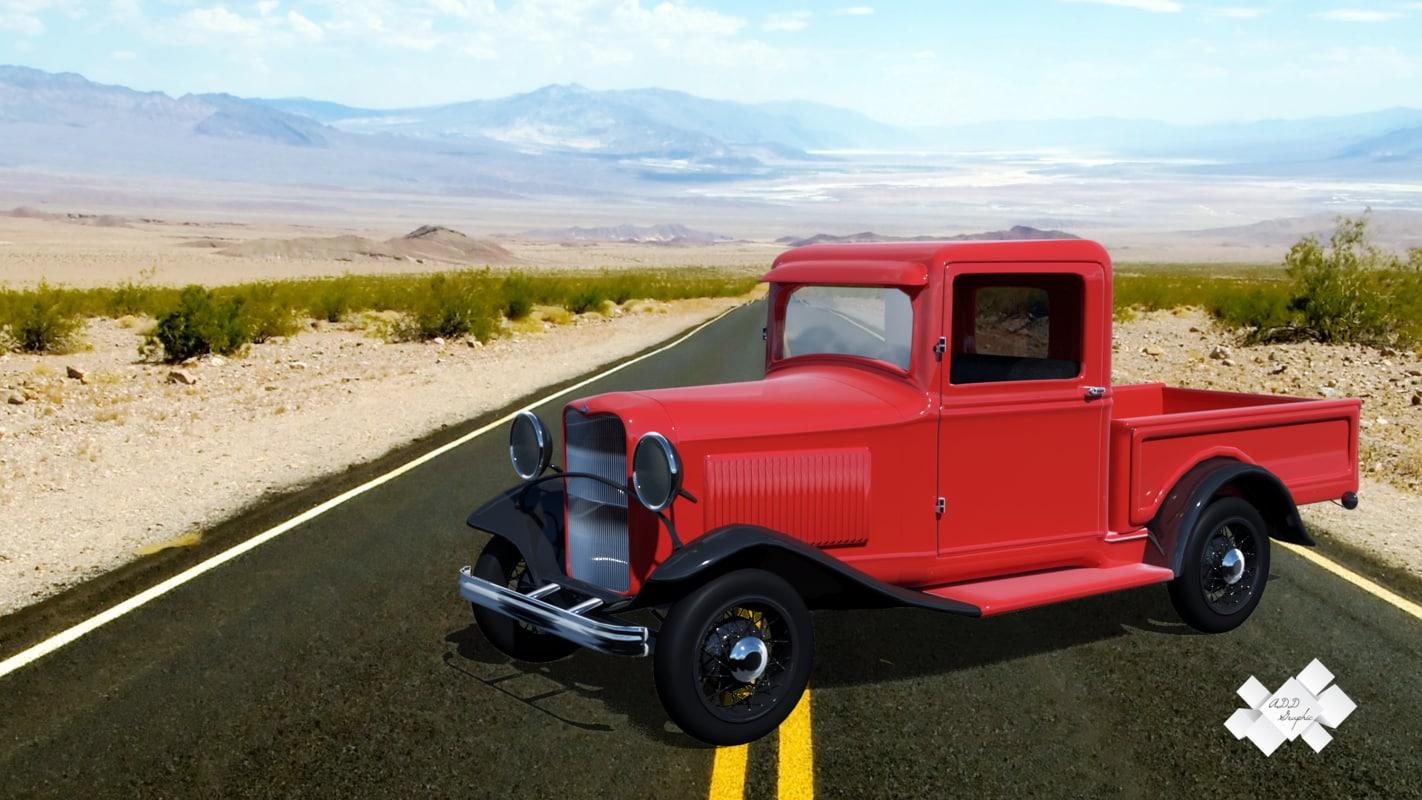 3d model b pickup