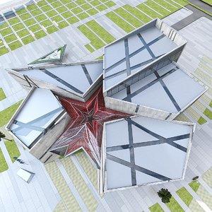 3d model museum building exterior