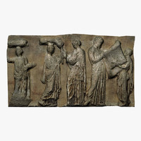 3d frieze marble parthenon