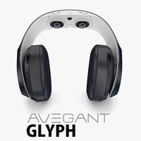 3d avegant vr headphone model