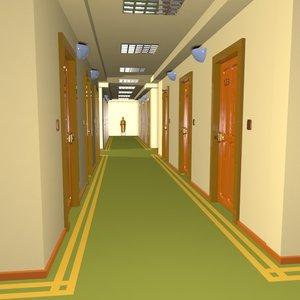 3d cartoon hallway toon