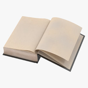 3d classic book 01 open