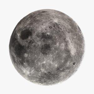 moon octane displacment 3d model