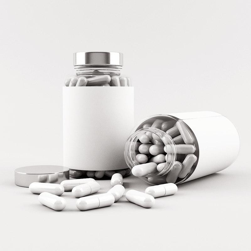 medical bottle 3d max