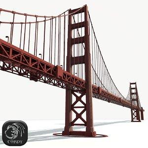 golden gate bridge 3d 3ds