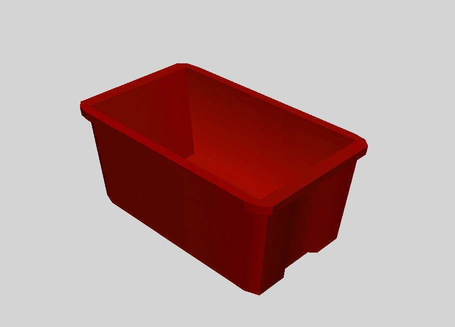 3d plastic tub model
