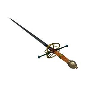 rapier sword 3d blend