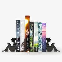 books stylish bookend 3d model
