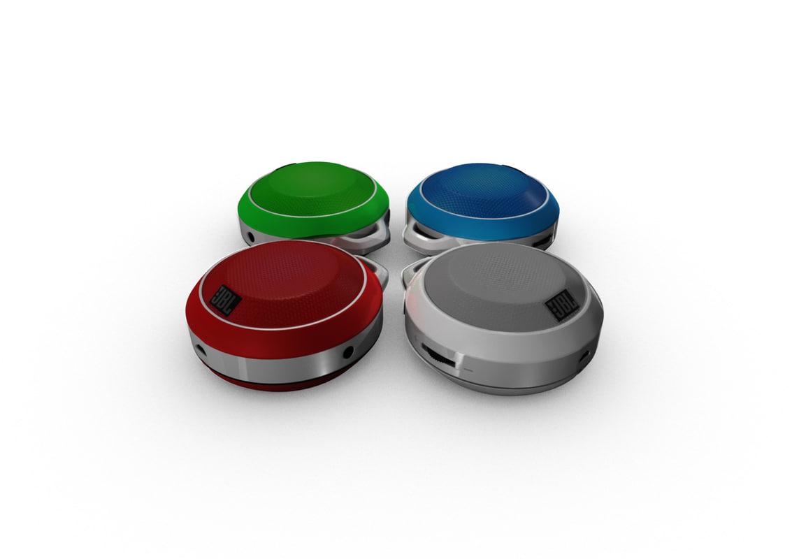 3d model jbl micro wireless speaker